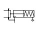 Paraller gripper - single acting NO pneumatic symbol