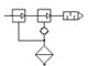 Dual stage modular ejector - basic pneumatic symbol
